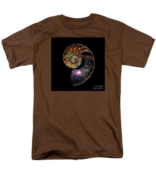 Men's T-Shirt  (Regular Fit) featuring the digital art Fossilized Nautilus Shell by Klara Acel