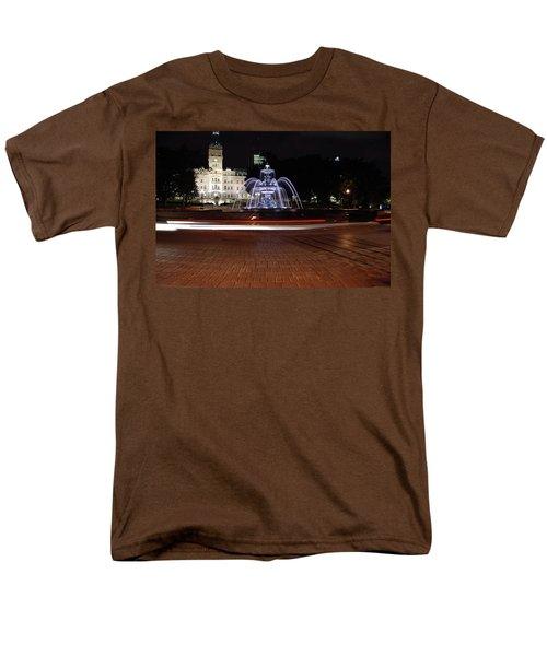 Fountaine De Tourny And Quebec Parliament Men's T-Shirt  (Regular Fit) by John Schneider