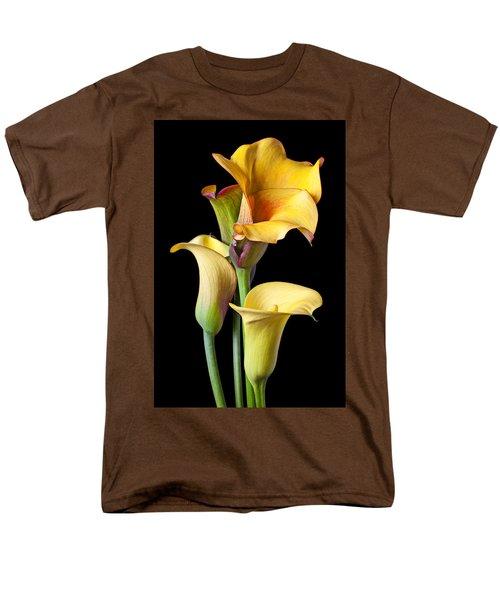 Four Calla Lilies Men's T-Shirt  (Regular Fit) by Garry Gay