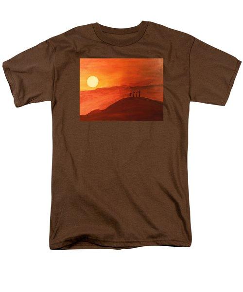 Four Crosses Men's T-Shirt  (Regular Fit) by David Stasiak