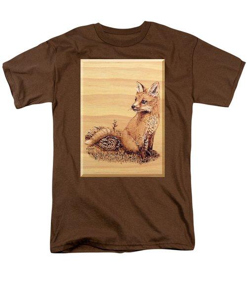 Fox Pup Men's T-Shirt  (Regular Fit) by Ron Haist