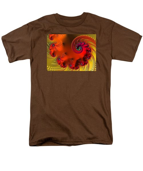 Fractal Art - Breath Of The Dragon Men's T-Shirt  (Regular Fit) by HH Photography of Florida