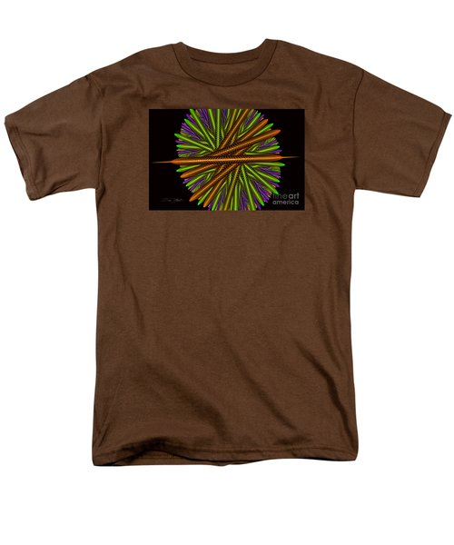 Fractal Feathers Men's T-Shirt  (Regular Fit) by Melissa Messick