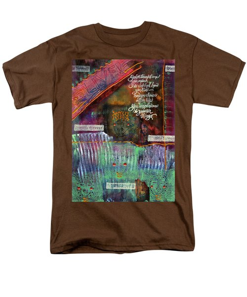 Men's T-Shirt  (Regular Fit) featuring the mixed media Friends Forever by Angela L Walker