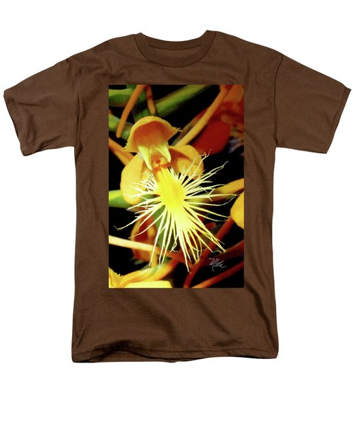 Men's T-Shirt  (Regular Fit) featuring the photograph Fringed Yellow Orchid by Meta Gatschenberger