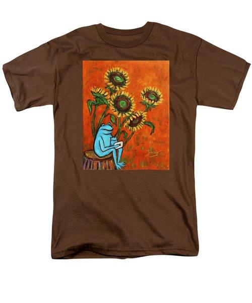Frog I Padding Amongst Sunflowers Men's T-Shirt  (Regular Fit) by Xueling Zou