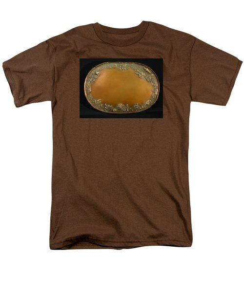 Men's T-Shirt  (Regular Fit) featuring the sculpture From The Foothills Bronze Tray by Dawn Senior-Trask