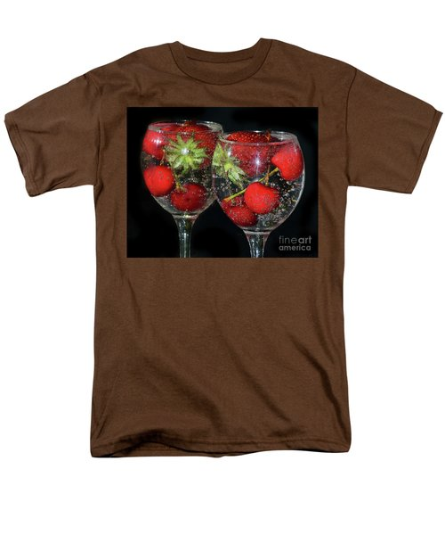 Men's T-Shirt  (Regular Fit) featuring the photograph Fruits In Glass by Elvira Ladocki