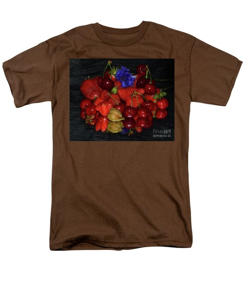 Men's T-Shirt  (Regular Fit) featuring the photograph Fruits With Flower by Elvira Ladocki