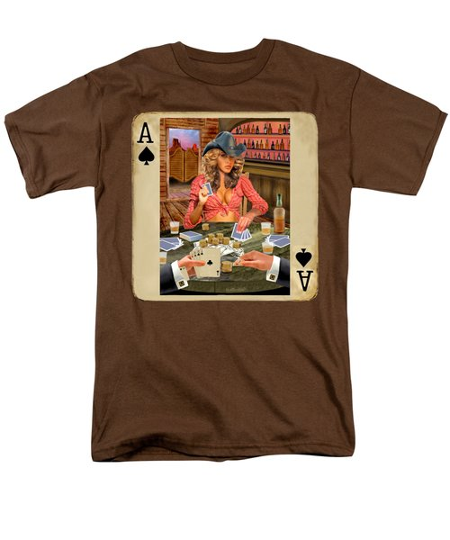 Gamblin' Cowgirl Men's T-Shirt  (Regular Fit) by Glenn Holbrook