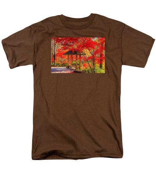 Men's T-Shirt  (Regular Fit) featuring the photograph Garden Bench by Geraldine DeBoer
