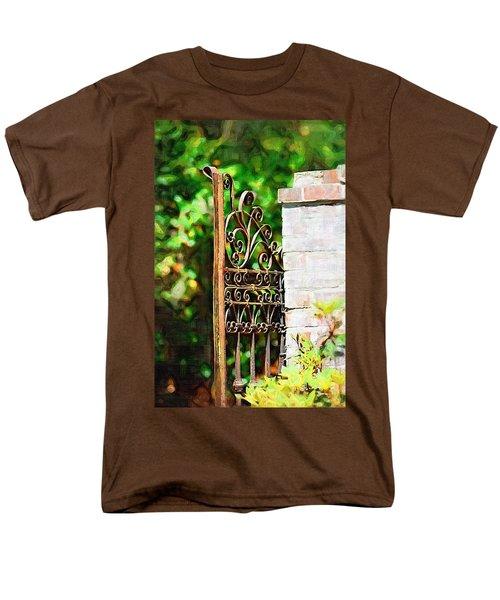 Men's T-Shirt  (Regular Fit) featuring the photograph Garden Gate by Donna Bentley