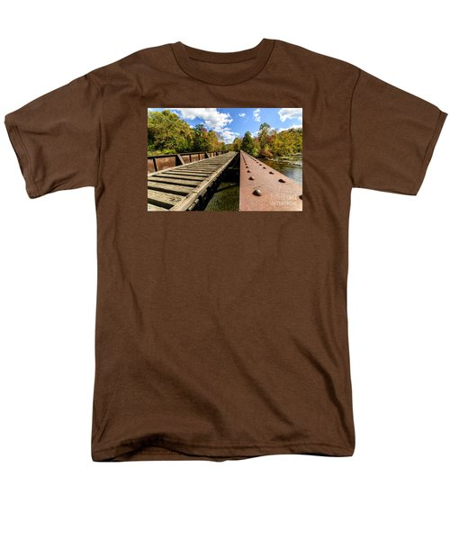 Gauley River Railroad Trestle Men's T-Shirt  (Regular Fit) by Thomas R Fletcher