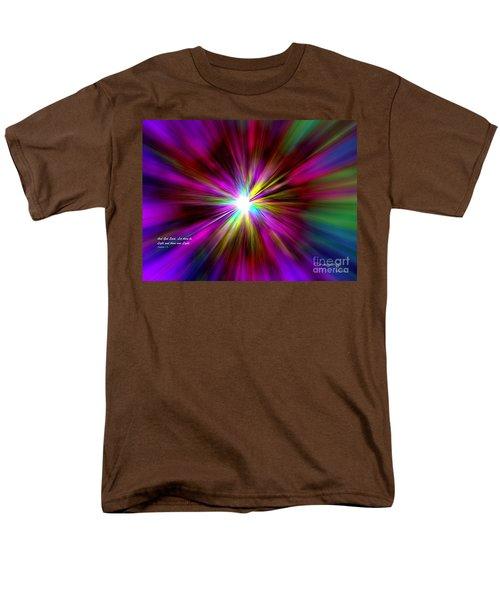 Men's T-Shirt  (Regular Fit) featuring the digital art Genesis 1 Verse 3 by Greg Moores