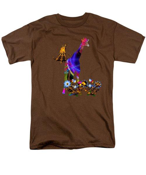 Giraffe And Flowers Men's T-Shirt  (Regular Fit) by EricaMaxine  Price