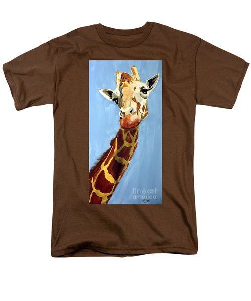 Men's T-Shirt  (Regular Fit) featuring the painting Girard Giraffe by Tom Riggs