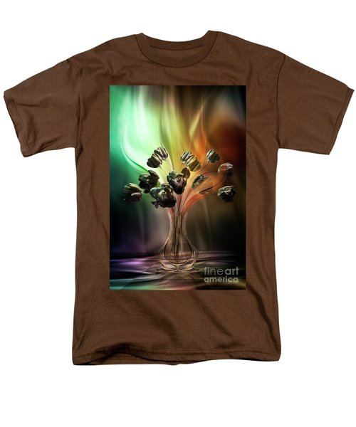 Men's T-Shirt  (Regular Fit) featuring the digital art Glasblower's Tulips by Johnny Hildingsson