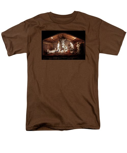 Glory To The Newborn King Men's T-Shirt  (Regular Fit) by Shelley Neff