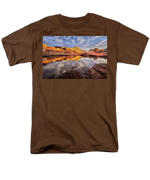 Glowing Rock Formations Men's T-Shirt  (Regular Fit) by Nicki Frates