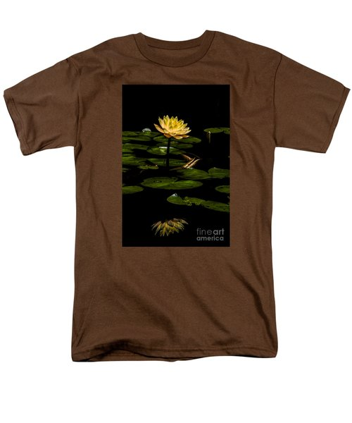 Men's T-Shirt  (Regular Fit) featuring the photograph Glowing Waterlily by Barbara Bowen