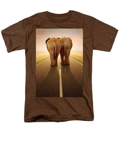 Going Away Together / Travelling By Road Men's T-Shirt  (Regular Fit) by Johan Swanepoel