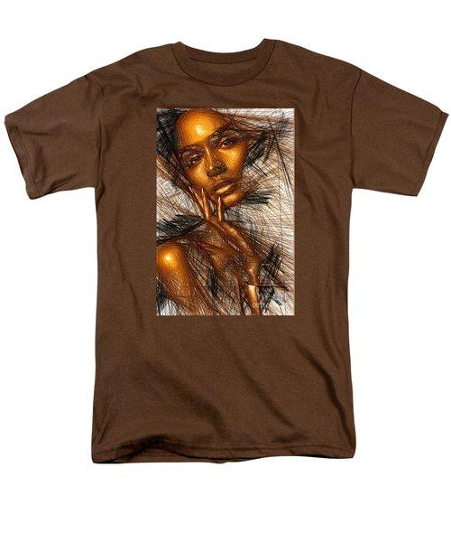 Gold Fingers Men's T-Shirt  (Regular Fit) by Rafael Salazar