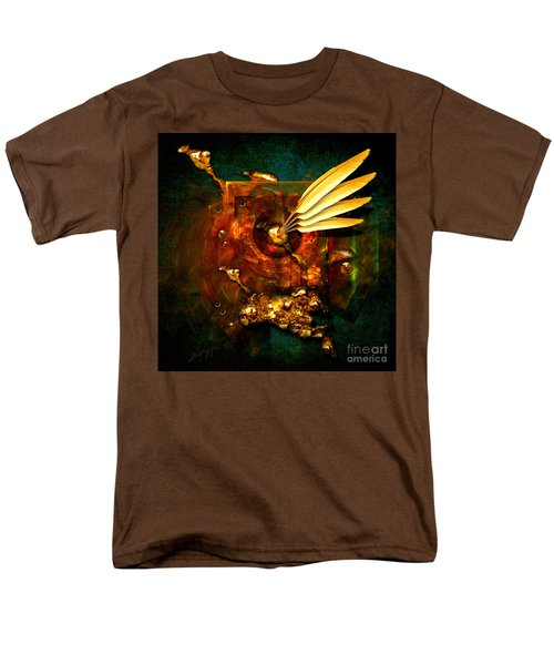 Men's T-Shirt  (Regular Fit) featuring the painting  Gold Inkpot by Alexa Szlavics