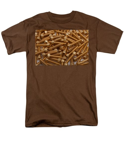 Gold Plated Screws Men's T-Shirt  (Regular Fit) by Gunter Nezhoda