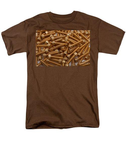 Gold Plated Screws Men's T-Shirt  (Regular Fit) by Gunter Nezhoda