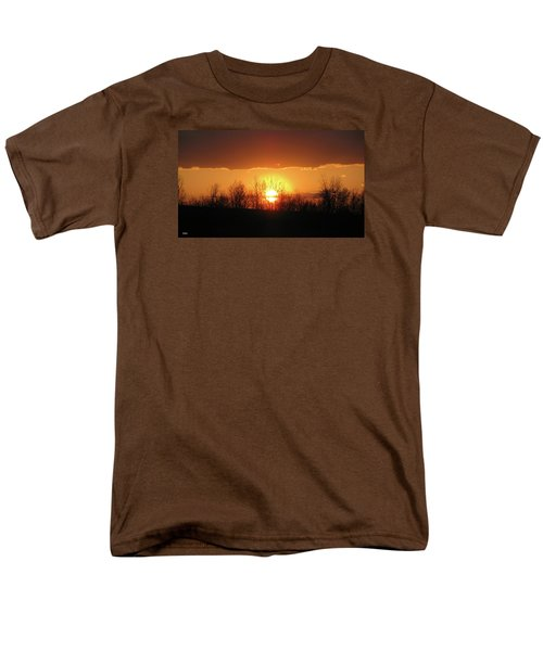 Men's T-Shirt  (Regular Fit) featuring the photograph Golden Arch Sunset by Debra     Vatalaro
