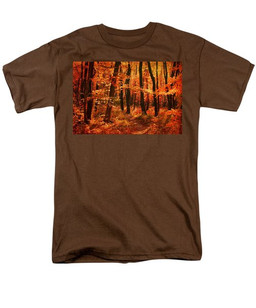 Golden Autumn Forest Men's T-Shirt  (Regular Fit) by Gabriella Weninger - David