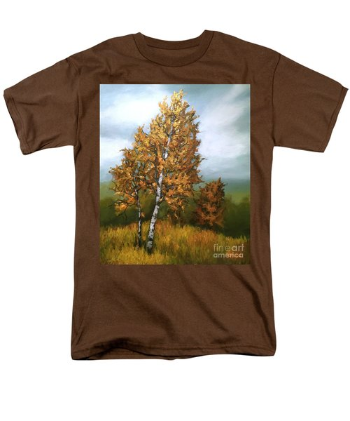 Golden Birch Men's T-Shirt  (Regular Fit) by Inese Poga