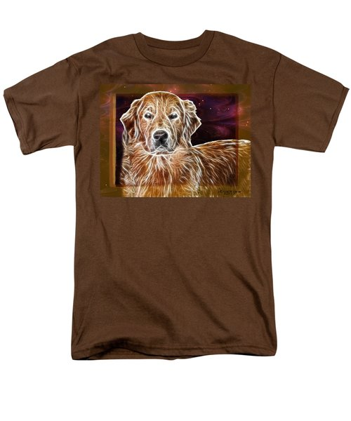 Golden Glowing Retriever Men's T-Shirt  (Regular Fit) by EricaMaxine  Price