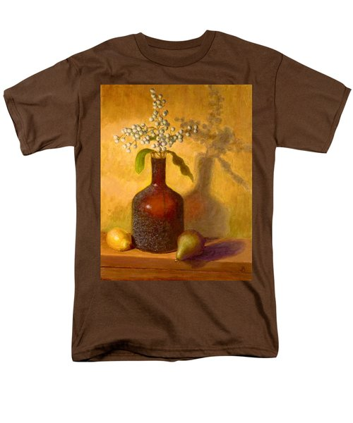 Men's T-Shirt  (Regular Fit) featuring the painting Golden Still Life by Joe Bergholm