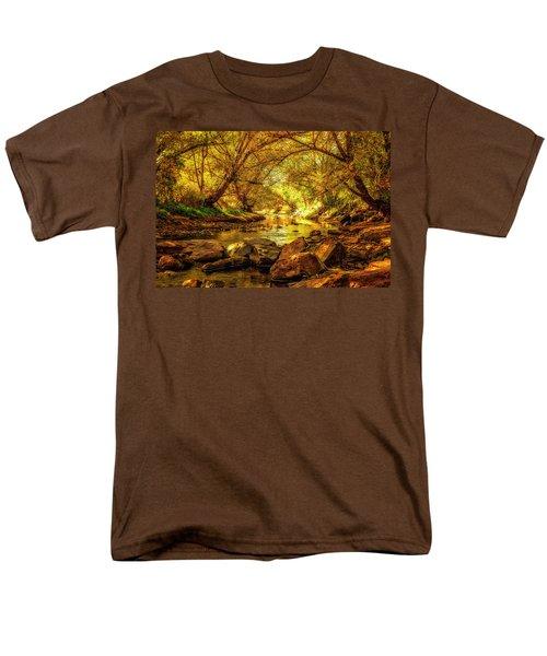 Golden Stream Men's T-Shirt  (Regular Fit)