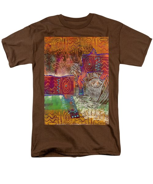 Men's T-Shirt  (Regular Fit) featuring the painting Golden Truth by Angela L Walker