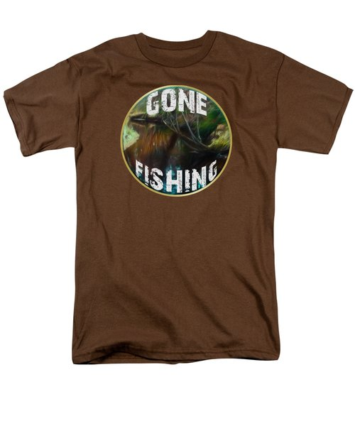 Gone Fishing Men's T-Shirt  (Regular Fit) by Mim White