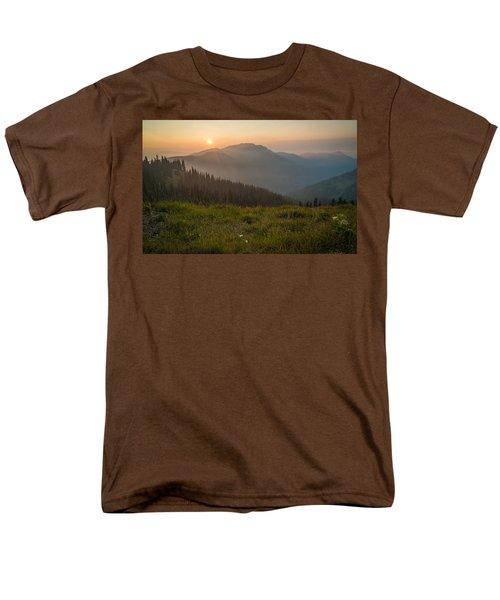 Goodnight Mountains Men's T-Shirt  (Regular Fit) by Kristopher Schoenleber