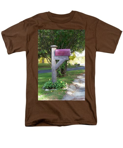 Men's T-Shirt  (Regular Fit) featuring the digital art Got Mail by Barbara S Nickerson