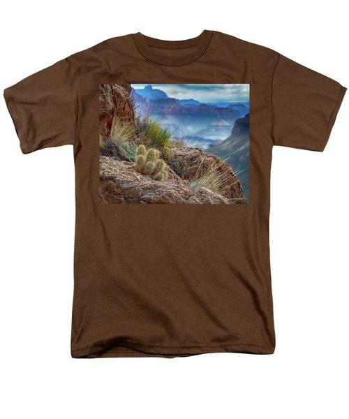 Grand Canyon Cactus Men's T-Shirt  (Regular Fit) by Phil Abrams