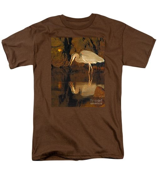 Great Blue Heron Men's T-Shirt  (Regular Fit) by Debbie Stahre