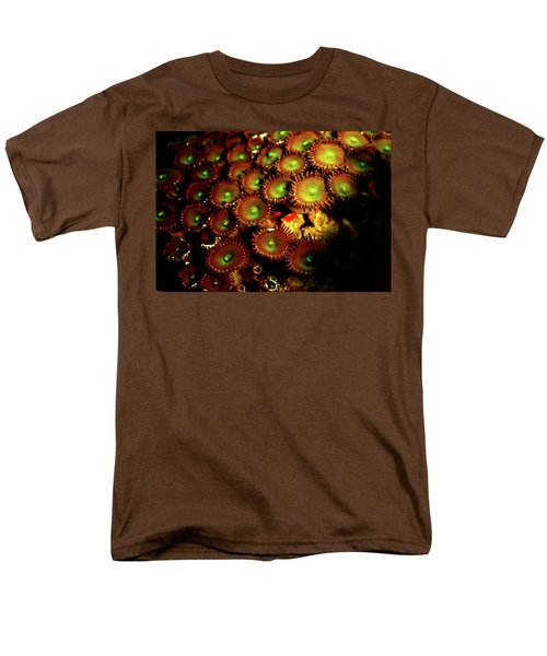 Men's T-Shirt  (Regular Fit) featuring the photograph Green Button Polyps by Anthony Jones