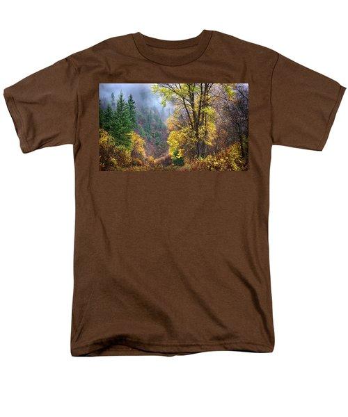 Green Mountain Fall Men's T-Shirt  (Regular Fit) by John Poon
