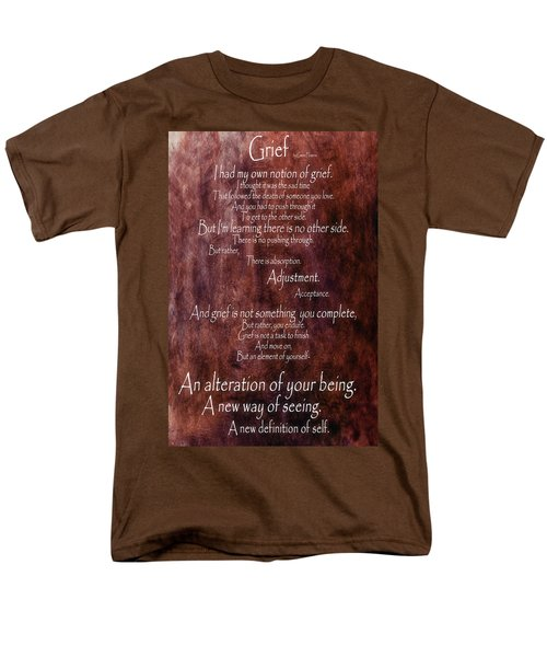 Men's T-Shirt  (Regular Fit) featuring the mixed media Grief 3 by Angelina Vick