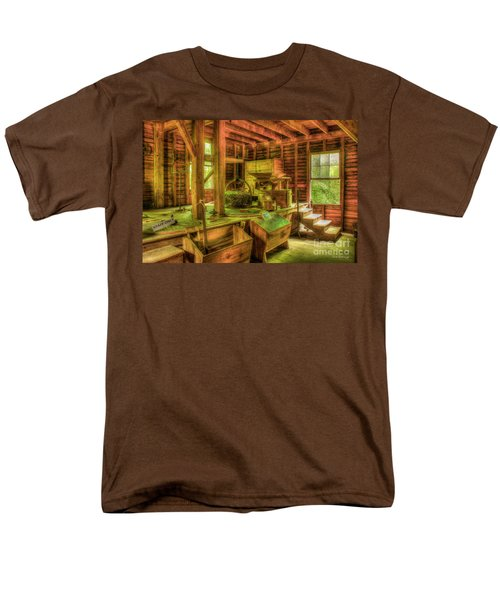 Men's T-Shirt  (Regular Fit) featuring the photograph Grindingworks Mingus Mill Great Smoky Mountains Art by Reid Callaway