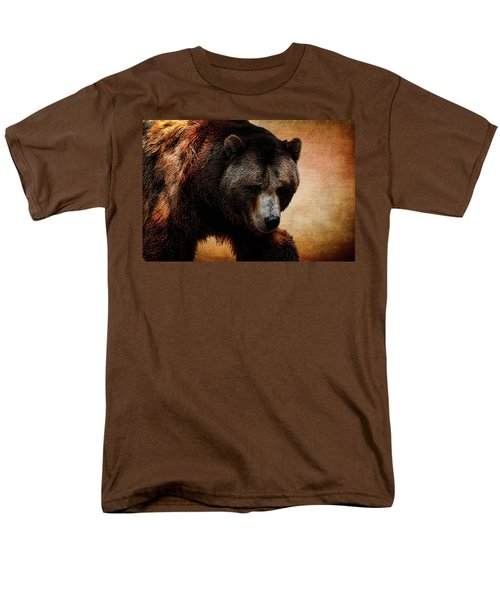 Grizzly Bear Men's T-Shirt  (Regular Fit) by Judy Vincent