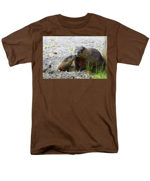 Men's T-Shirt  (Regular Fit) featuring the photograph Groundhog Kiss by Betty-Anne McDonald