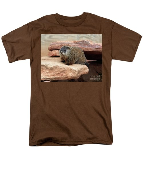 Groundhog Men's T-Shirt  (Regular Fit) by Louise Heusinkveld