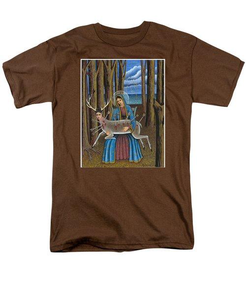 Guadalupe Visits Frida Kahlo Men's T-Shirt  (Regular Fit) by James Roderick