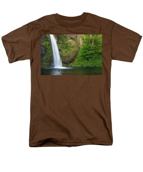 Men's T-Shirt  (Regular Fit) featuring the photograph Gushing Horsetail Falls by Greg Nyquist